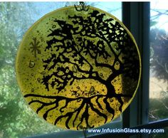 Cremation Glass Art Wind Chime Tree of Life Cremation Ashes InFused Glass Memorial 5 inch Cremation Ashes, Cremation Jewelry, Pet Cremation, Sun Catchers, Memorial Urns, Memorial Ideas, Kiln Formed Glass, Glass Wind Chimes, Pet Ashes