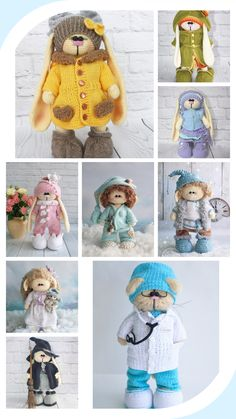 Crochet Animal Patterns, Crochet Doll Pattern, Crochet Patterns Amigurumi, Amigurumi Doll, Crochet Dolls, Baby Patterns, Diy Crochet And Knitting, Crochet Things, Crochet For Kids