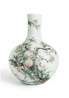 Falangcai 'peach-and-bat' copper vase. Mark and period of Kangxi. Palace Museum, Beijing