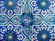#mosaic #blue #pattern #print #pretty