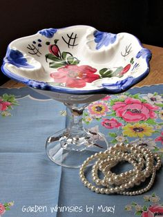 Vintage Soap or Jewelry Dish Hand Painted by GardenWhimsiesByMary, $18.00