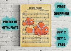 Finding Nemo Beyond the Sea Music Art Metal Print-Disney Beyond The Sea, Finding Nemo, Disney Art, Metal, Music, Prints, Poster, Handmade, Stuff To Buy