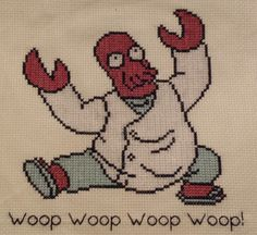 Dr. Zoidberg, saw this on pinterest and then i copied the patern so thank you whoever made the original:)