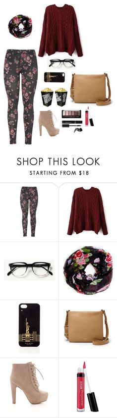 """""""Simple Movie Dating"""" by ms-jaramaya ❤ liked on Polyvore featuring Sole Society, Henri Bendel, FOSSIL, Monday, Bare Escentuals and Elizabeth Arden"""
