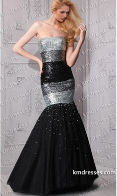 eyecatching Stripes of sequins strapless mermaid dress.prom dresses,formal dresses,ball gown,homecoming dresses,party dress,evening dresses,sequin dresses,cocktail dresses,graduation dresses,formal gowns,prom gown,evening gown.