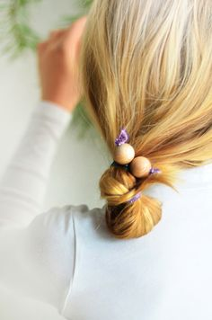 DIY Hair Twists with Wooden Beads