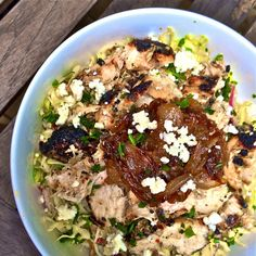 Copycat Recipe: Zoe's Kitchen Protein Power Plate with Greek Yogurt Marinated Grilled Chicken& Feta Coleslaw