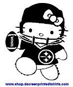 Steelers hello kitty hello kitty pinterest hello for Custom t shirt printing pittsburgh