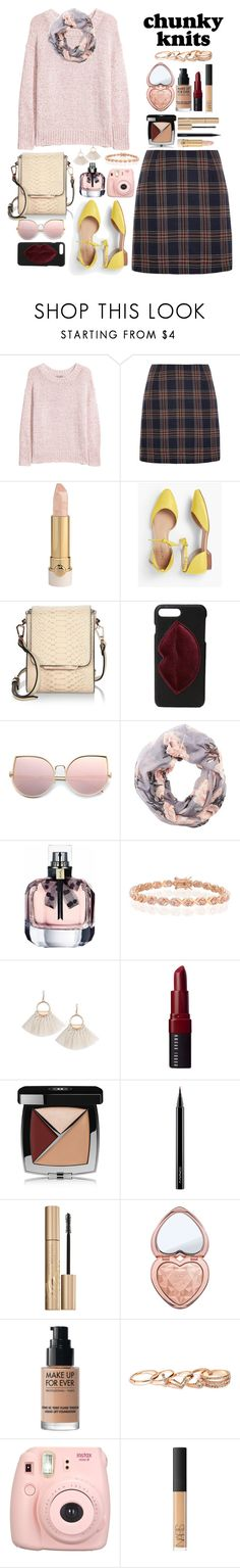 """Chunky Knits"" by allyssister ❤ liked on Polyvore featuring H&M, Louche, Talbots, Kendall + Kylie, Charlotte Russe, Bling Jewelry, Bobbi Brown Cosmetics, Chanel, MAC Cosmetics and Stila"