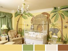 african, jungle, savannah themes in kids room interior