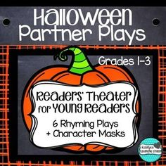 Halloween Readers Theater Partner Plays Poems for Grade 1, 2, and 3--Fun Halloween Readers Theaters or Partner Plays for young, beginning, or struggling readers. Plays are in poem format for fun rhymes and to encourage fluency. Use as a center where students read the plays with a partner, during Guided Reading to practice fluency, or as a fast finisher. ~Katelyn's Learning Studio