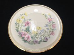 """Lenox Flower Song Bone China Floral Gold Trim Dinner Plate, Made in USA, 10 1/2"""" #Lenox"""