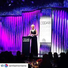 This shot!!  Thanks for capturing @iamfashionlaine! The beautiful Cate and this stage set I worked on. #setdesign #stageset #setdesigner #awardshows #costumeawards #cdga18 #CateBlanchett #awardseason  #Repost @iamfashionlaine with @repostapp.