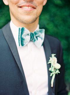 velvet bow ties...love this!!