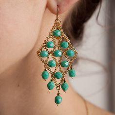 Blee Inara Diamond Shaped Beaded Earrings