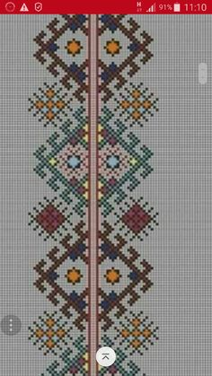 This Pin was discovered by Xim Cute Cross Stitch, Cross Stitch Borders, Cross Stitch Embroidery, Cross Stitch Patterns, Cross Stitch Geometric, Palestinian Embroidery, Vintage Cross Stitches, Quilt Blocks, Folk Art