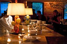 Love, love love the idea of the table lamps for the buffet at certain events!