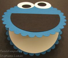 Cookie Monster Card - cute for a birthday invitation