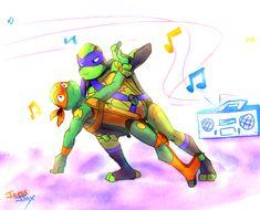 I'm a little idle to make backgrounds… XD - Jaess_Jinx (Jamizell) Ninja Turtles Art, Baby Turtles, Teenage Mutant Ninja Turtles, Tmnt 2012, Tmnt Mikey, Leonardo Tmnt, Fan Art, Theme Song, Anime