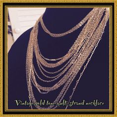 Vintage Multi Strand Necklace & Extender Gt#11