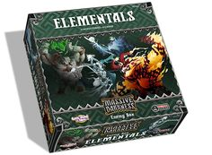 The Elementals Enemy Box Optional Buy comes with 4 large figures and 8 cards