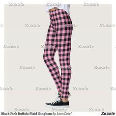 Shop Black Pink Buffalo Plaid Gingham Leggings created by LeonOziel. Black Leggings, Yoga Leggings, Yoga Pants, Gym Fashion, Fashion Outfits, Gym Style, Gingham Check, Plaid Pants, Running Tights