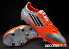 bd15db199e04 adidas f50 adizero miCoach Football Boots - Silver/Infrared - http://www