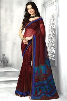 Lovely Maroon Color Super Net Saree