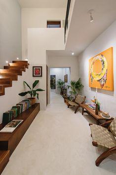 Narrow House Designs, Small House Design, Home Design, Home Interior Design, Interior Architecture, Living Haus, Sweet Home, New Homes, Home Decor