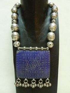 lovely large Multan pendant strung with Turkoman silver 'double' beads www.facebook.com/KIMBERLEYPRICEJEWELLERY