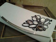 Клатч с декором из кожи и перламутра - бежевый,клатч из кожи,ручная работа handmade