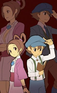 Luke and Pearls... Phoenix Wright: Ace Attorney vs. Professor Layton. (I know it's the other way around but I like Ace Attorney more :P)