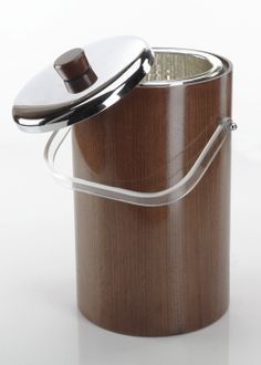 Teak Thermal Ice Bucket