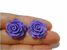Items similar to Mrs.Purple Rose Rose Stud Earrings on Etsy Purple Rose, Rose Earrings, Spring 2015, Trending Outfits, Jewellery, Unique Jewelry, Handmade Gifts, Flowers, Etsy