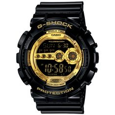 G shock Casio 6600 Black×Gold Series GD-100GB-1JF