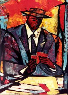 The Player Painting by William Tolliver