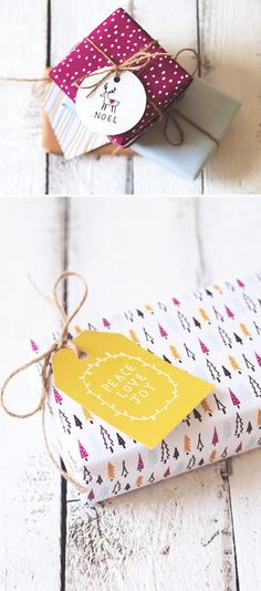 DIY: Printable Christmas tags