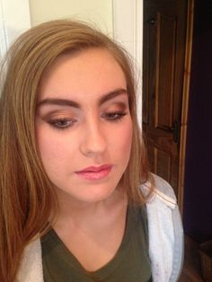 Beautiful Golds & Browns using MAC make up.