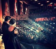 SRK & KAJOL at Maratha Mandir for Celebrating 1000 Weeks Of DDLJ. Maratha Mandir had a full house from the matinee till the last show... :)