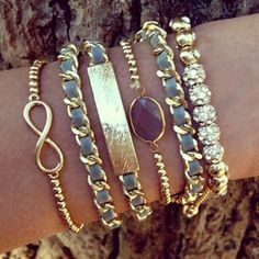 love - Infinity Stack - website sells stacked bracelets as a package - Click image to find more Women's Fashion Pinterest pins