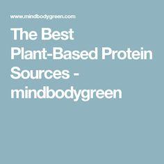 The Best Plant-Based Protein Sources - mindbodygreen