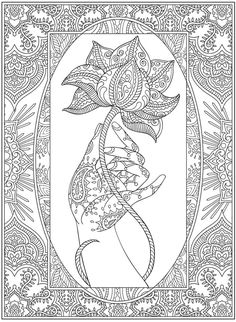 Henna coloring page from Dover Publications http://www.doverpublications.com/zb/samples/797910/sample6a.html
