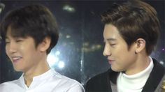 Tell chanbaek that's not how normal friends stare at each other.