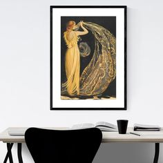 Isadora Duncan was an American-French dancer who performed to acclaim throughout Europe. Oil painting on canvas. | Barbara Gerodimou Painting Art Print Poster, Framed Print, Ready-to-Hang Wall Art Framed Wall Art, Framed Prints, Art Prints, Oil Painting On Canvas, Painting Art, Isadora Duncan, Handmade Frames, Texture Art, Print Poster
