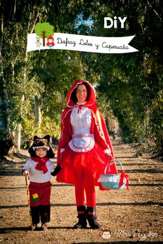 Miss Peguitos: DiY Disfraz de lobo y Caperucita roja. Custom Red Riding Hoodie and Wolf