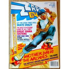 Zzap! 64: 1988 - Nr. 39 Commodore 64 Giana Sisters, Good Times Roll, Arcade Machine, Gremlins, Cover Art, The Book, Childhood Memories, All About Time, Retro Vintage