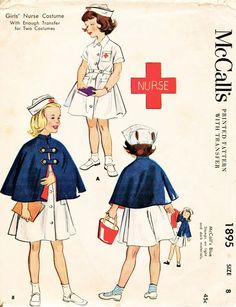Vintage 50s Girls Nurse... call me old fashion, but I kind of wish these were still worn in nursing settings...