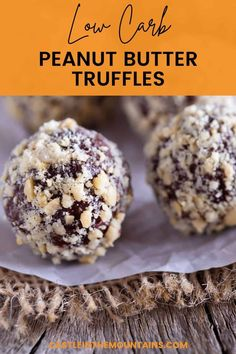 The Sugar Free - Keto Peanut Butter Cup Truffles are creamy peanut butter balls enveloped in dark chocolate created to bust cravings. These are gooood and they'll save you money on pre-made treats. The Low Carb Lifestyle isn't complicated but you have to plan ahead for cravings. This recipe is the perfect way to do it. #easyketo #castleinthemountains Peanut Butter Truffles, Truffle Butter, Truffle Recipe, Peanut Butter Cups, Sugar Free Dark Chocolate, Dark Chocolate Chips, Melting Chocolate, Natural Peanut Butter, Creamy Peanut Butter