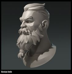 My practice in sculpting head and hair 3d Model Character, Character Modeling, Character Concept, Character Art, Concept Art, 3d Modeling, Anatomy Sculpture, Sculpture Art, Zbrush
