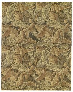 Classic Acanthus Leaves Rug by William Morris